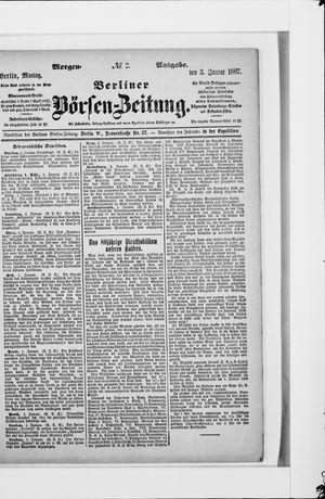 Berliner Börsen-Zeitung vom 03.01.1887