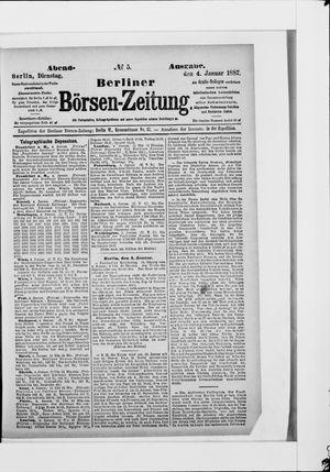 Berliner Börsen-Zeitung vom 04.01.1887