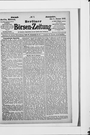 Berliner Börsen-Zeitung on Jan 5, 1887