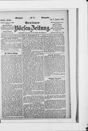 Berliner Börsen-Zeitung on Jan 7, 1887
