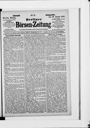 Berliner Börsen-Zeitung vom 10.01.1887