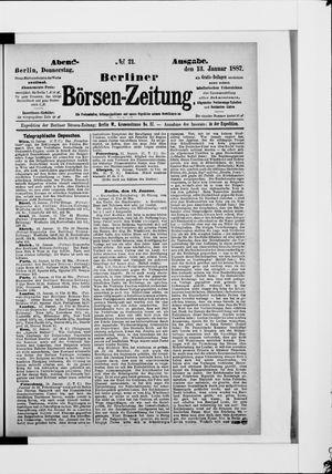 Berliner Börsen-Zeitung vom 13.01.1887