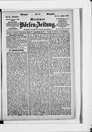 Berliner Börsen-Zeitung vom 15.01.1887