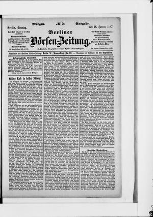 Berliner Börsen-Zeitung on Jan 16, 1887
