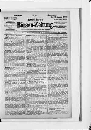 Berliner Börsen-Zeitung vom 17.01.1887