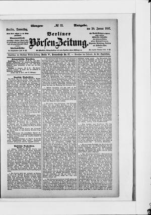 Berliner Börsen-Zeitung vom 20.01.1887