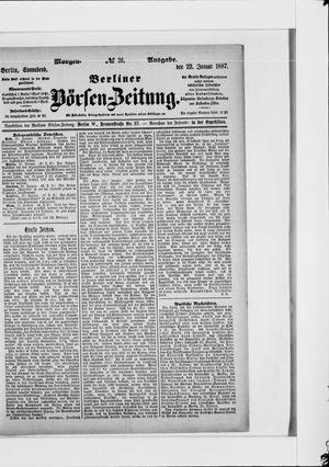 Berliner Börsen-Zeitung vom 22.01.1887