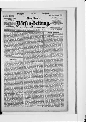 Berliner Börsen-Zeitung vom 23.01.1887