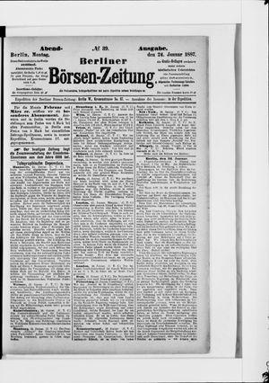 Berliner Börsen-Zeitung vom 24.01.1887