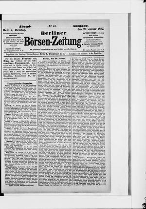 Berliner Börsen-Zeitung vom 25.01.1887