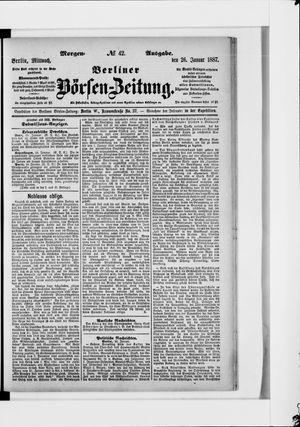 Berliner Börsen-Zeitung vom 26.01.1887
