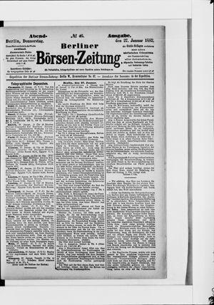 Berliner Börsen-Zeitung vom 27.01.1887