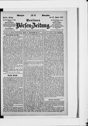 Berliner Börsen-Zeitung vom 28.01.1887