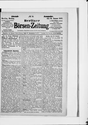 Berliner Börsen-Zeitung vom 31.01.1887