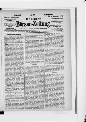 Berliner Börsen-Zeitung vom 03.02.1887