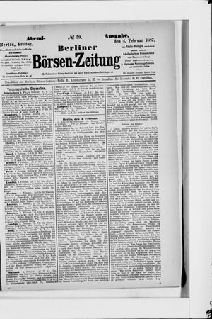 Berliner Börsen-Zeitung vom 04.02.1887
