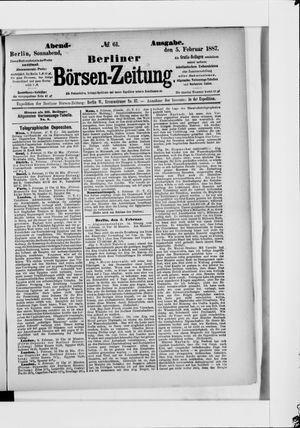 Berliner Börsen-Zeitung vom 05.02.1887