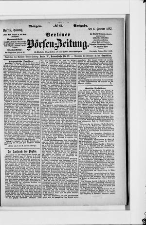 Berliner Börsen-Zeitung vom 06.02.1887
