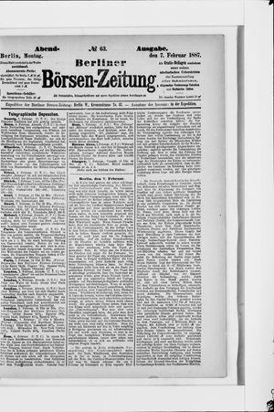 Berliner Börsen-Zeitung vom 07.02.1887