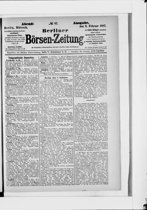 Berliner Börsen-Zeitung vom 09.02.1887
