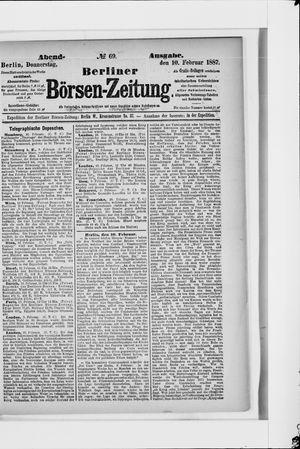 Berliner Börsen-Zeitung vom 10.02.1887
