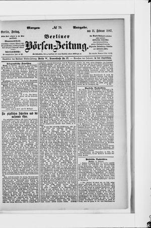 Berliner Börsen-Zeitung vom 11.02.1887