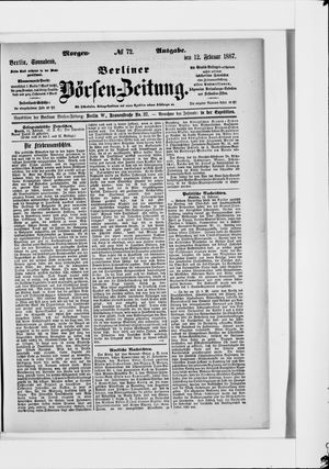 Berliner Börsen-Zeitung vom 12.02.1887