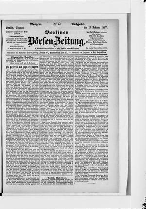 Berliner Börsen-Zeitung vom 13.02.1887