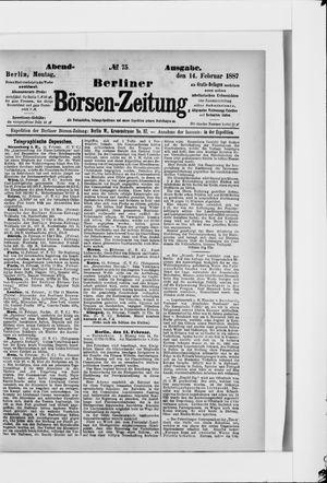 Berliner Börsen-Zeitung vom 14.02.1887