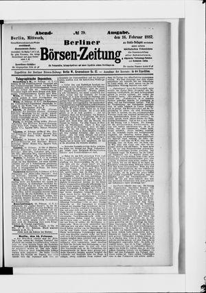 Berliner Börsen-Zeitung on Feb 16, 1887