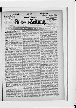 Berliner Börsen-Zeitung vom 18.02.1887