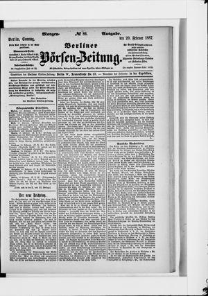 Berliner Börsen-Zeitung vom 20.02.1887