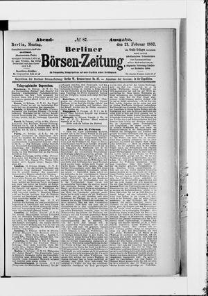 Berliner Börsen-Zeitung vom 21.02.1887