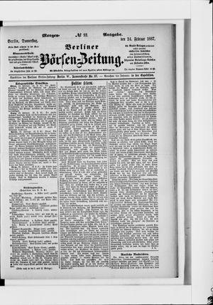 Berliner Börsen-Zeitung on Feb 24, 1887