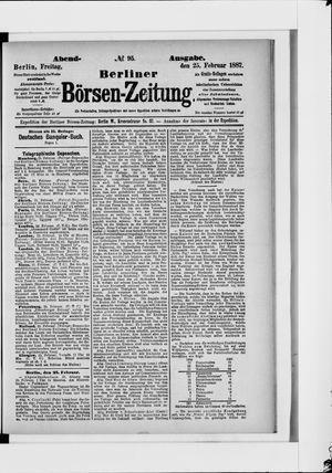 Berliner Börsen-Zeitung vom 25.02.1887
