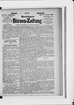 Berliner Börsen-Zeitung vom 26.02.1887