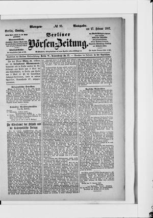 Berliner Börsen-Zeitung vom 27.02.1887