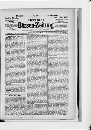 Berliner Börsen-Zeitung vom 01.03.1887