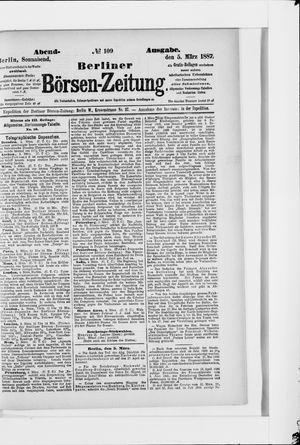 Berliner Börsen-Zeitung vom 05.03.1887