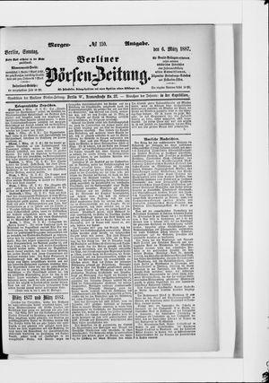 Berliner Börsen-Zeitung vom 06.03.1887