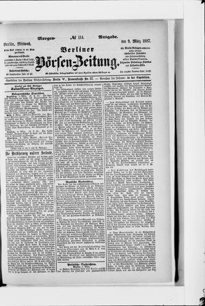 Berliner Börsen-Zeitung vom 09.03.1887