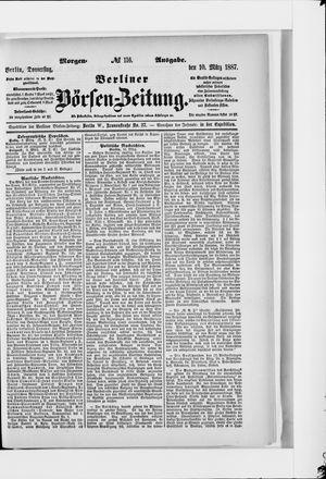 Berliner Börsen-Zeitung vom 10.03.1887