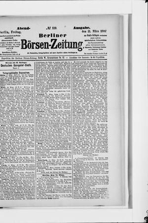 Berliner Börsen-Zeitung vom 11.03.1887