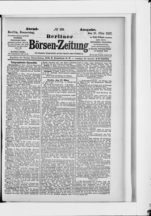 Berliner Börsen-Zeitung vom 17.03.1887
