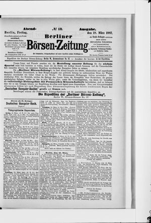Berliner Börsen-Zeitung vom 18.03.1887