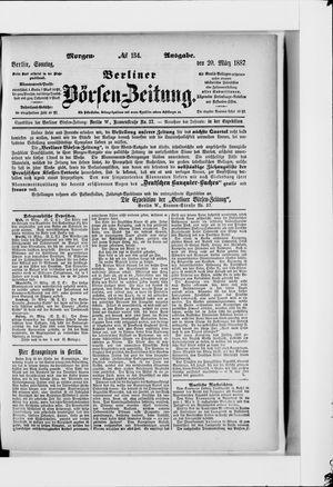 Berliner Börsen-Zeitung vom 20.03.1887