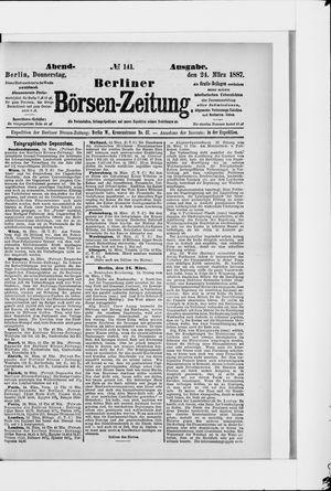 Berliner Börsen-Zeitung vom 24.03.1887