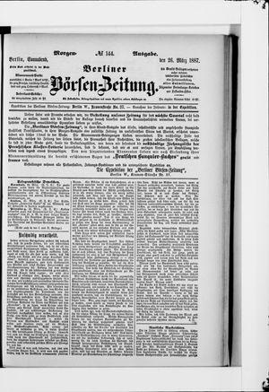 Berliner Börsen-Zeitung vom 26.03.1887
