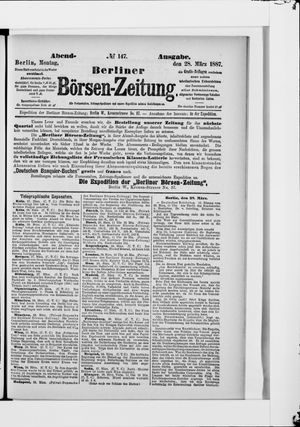 Berliner Börsen-Zeitung vom 28.03.1887