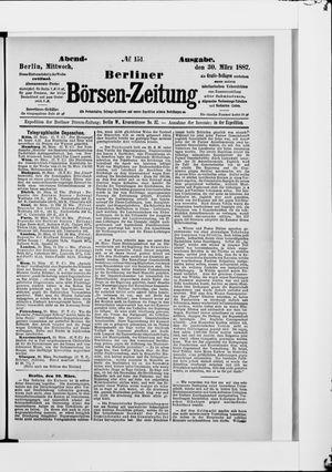 Berliner Börsen-Zeitung vom 30.03.1887